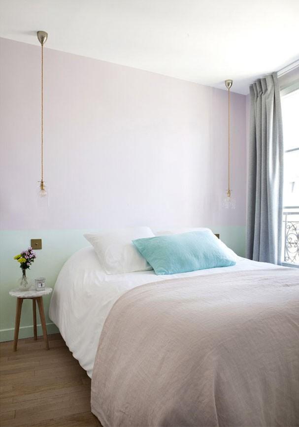 Combo rosa quartzo + turquesa com objetos bem escolhidos do Hotel Henriette, em Paris (reprodução)